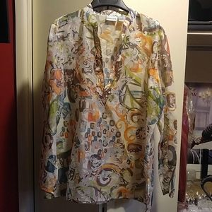 Chico's sheet blouse
